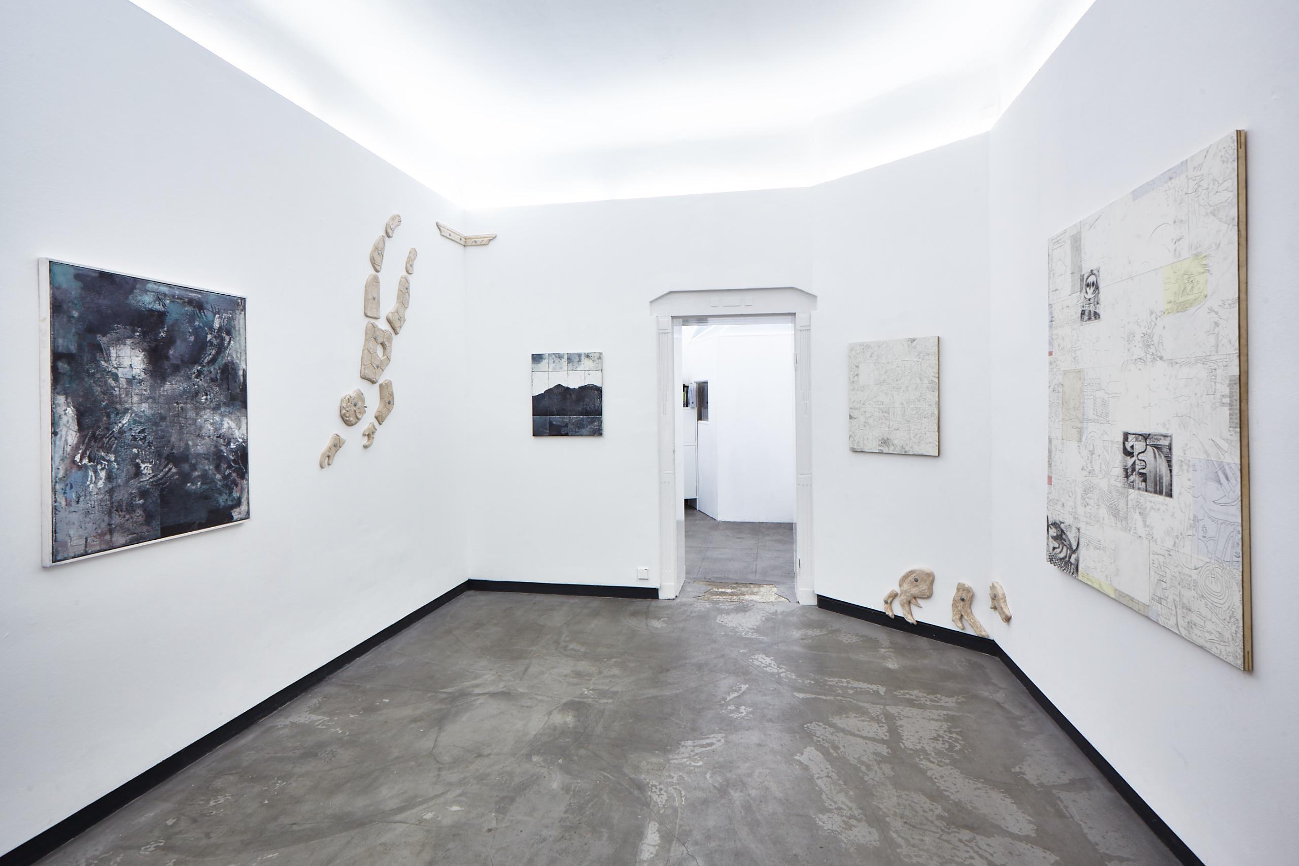 exhibition Event Horizon, sp2 Berlin, Fabian Hub, Lisa Braun, Yannick Riemer
